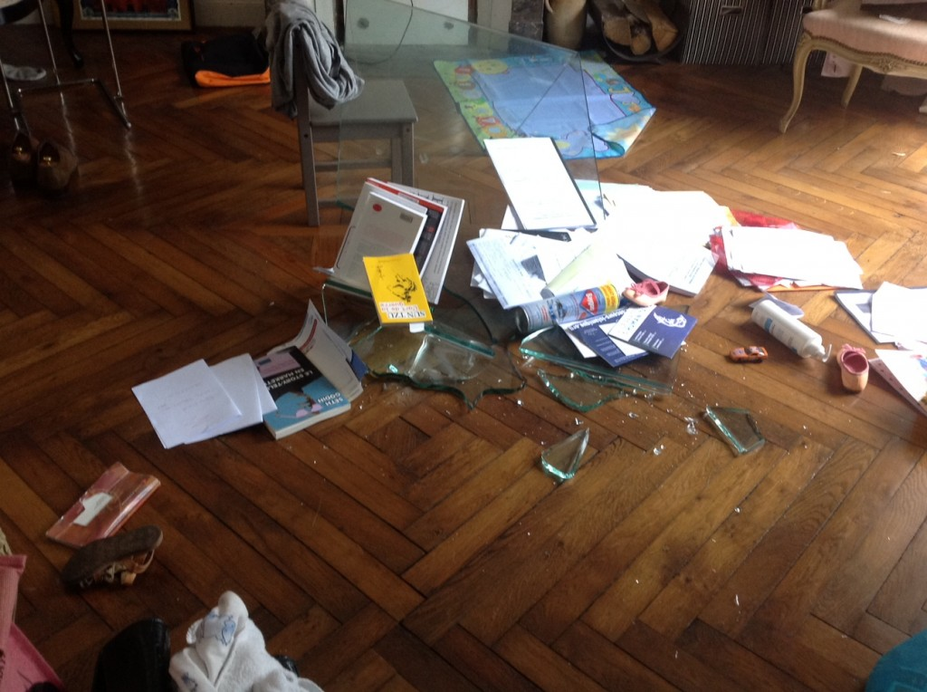 table verre trempe explose